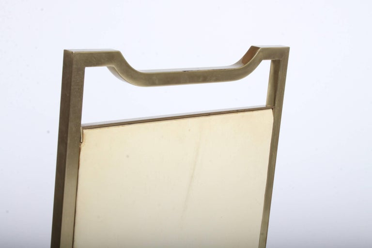 Billy Haines Style Mid-Century Modern Brass Desk Chair For Sale 1
