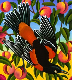 Orchard Oriole with Peaches
