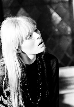 "Nico during the filming of Andy Warhol's ""**** (25-Hour Movie)"""