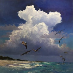 """""""Storm Over Emerald Waters"""" original oil landscape by Billy Solitario"""