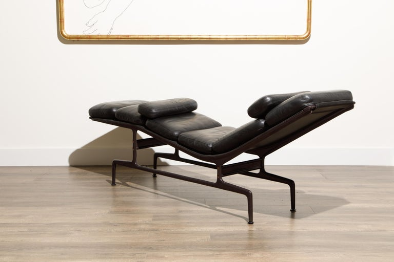 Leather Billy Wilder Chaise Lounge by Ray & Charles Eames for Herman Miller For Sale