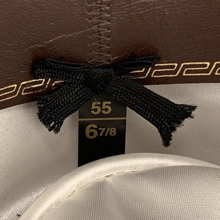 BILTMORE Size 6 7/8Tan Brown Felt Black Ribbon Fedora Ha 5