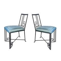 'Biltmore' Wrought Iron Chair Marina McDonald Jazz Furniture Postmodern Art Deco
