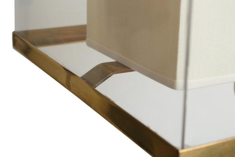 Brass Binario Table Lamp by Selezioni Domus For Sale