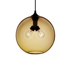 Binary Smoke Handblown Modern Glass Pendant Light, Made in the USA