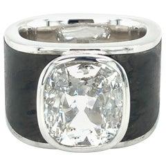 Binder Moerisch 3.41 Carat Diamond Ring in 18 Karat White Gold and Carbon