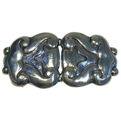 Bindesboll Belt Buckle in Silver from Holger Kyster's Silver Smithy