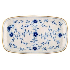 """Bing & Grondahl / B&G, """"Butterfly"""", Dish with Golden Border in Porcelain"""