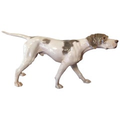 Bing & Grondahl B&G Porcelain Pointer Dog Figurine, circa 1950s