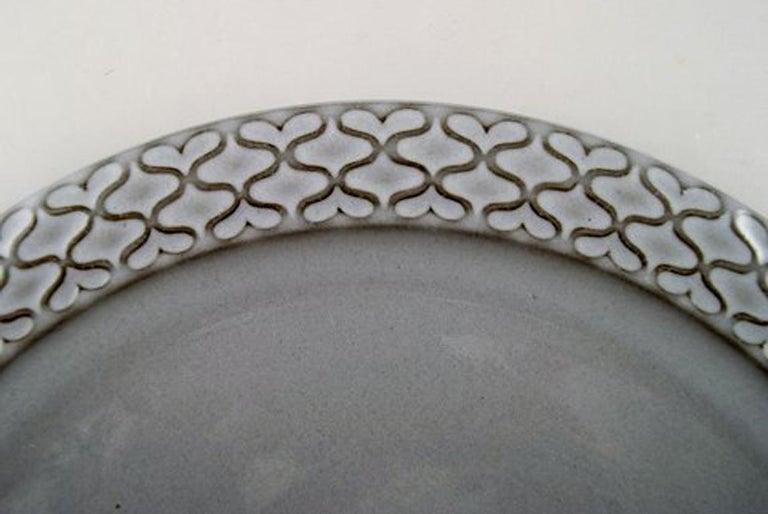 Scandinavian Modern Bing & Grondahl Number 624, Set of 10 Dinner Plates, B & G Grey Cordial For Sale