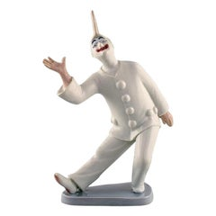 Bing & Grondahl Porcelain Figurine, Pierrot, Model Number 2353