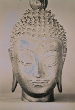 """Stay Woke Buddha 1"" daguerreotype portrait statue zen buddhist peaceful serene"