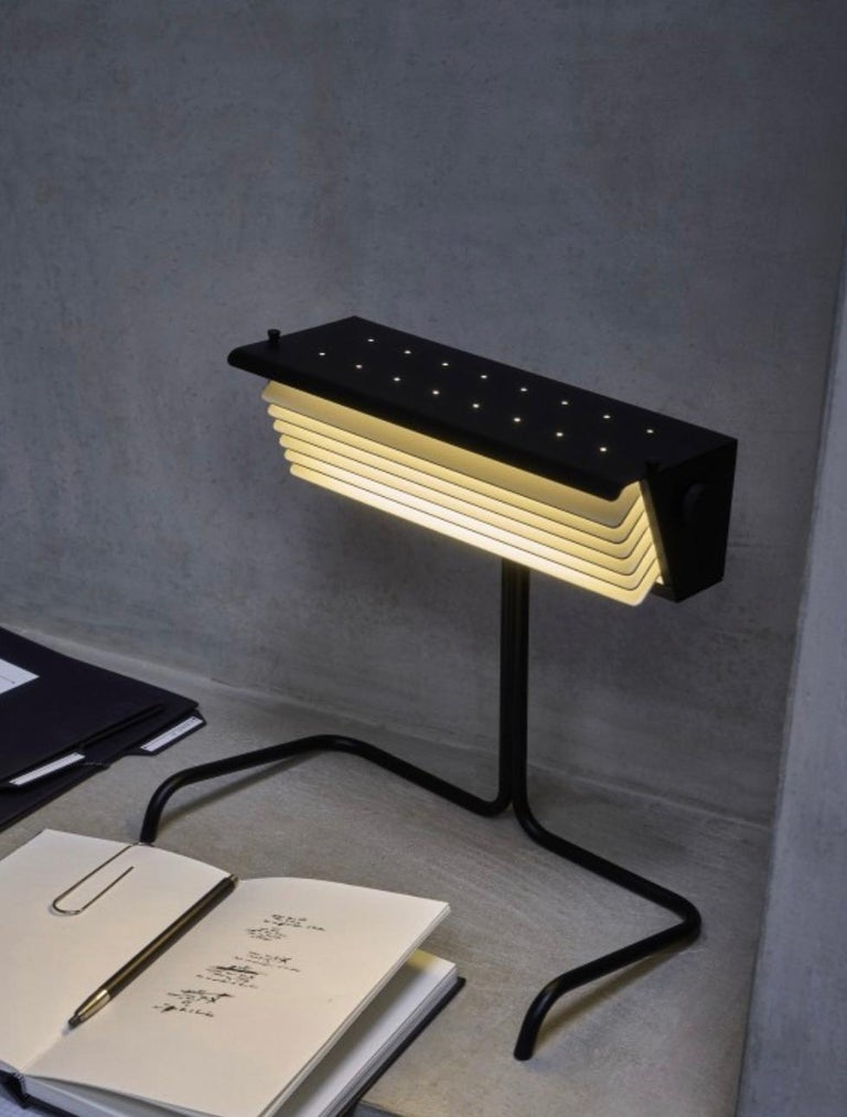 Aluminum Biny Table Lamp by Jacques Biny For Sale