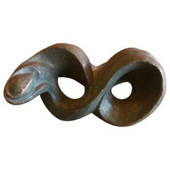 Biomorphic Abstract Pottery Sculpture by Robert Ortlieb