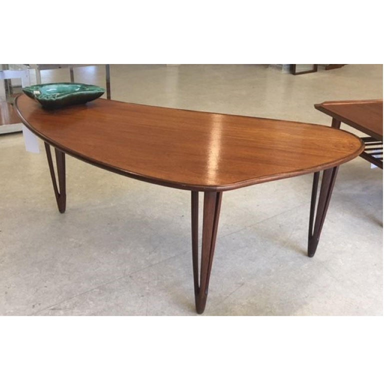 Biomorphic Danish Teak Coffee Table by B. C. Mobler For ...