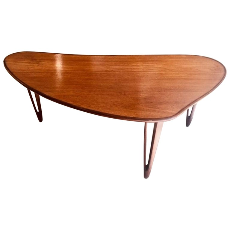 Teak Root Coffee Table Canada: Biomorphic Danish Teak Coffee Table By B. C. Mobler For