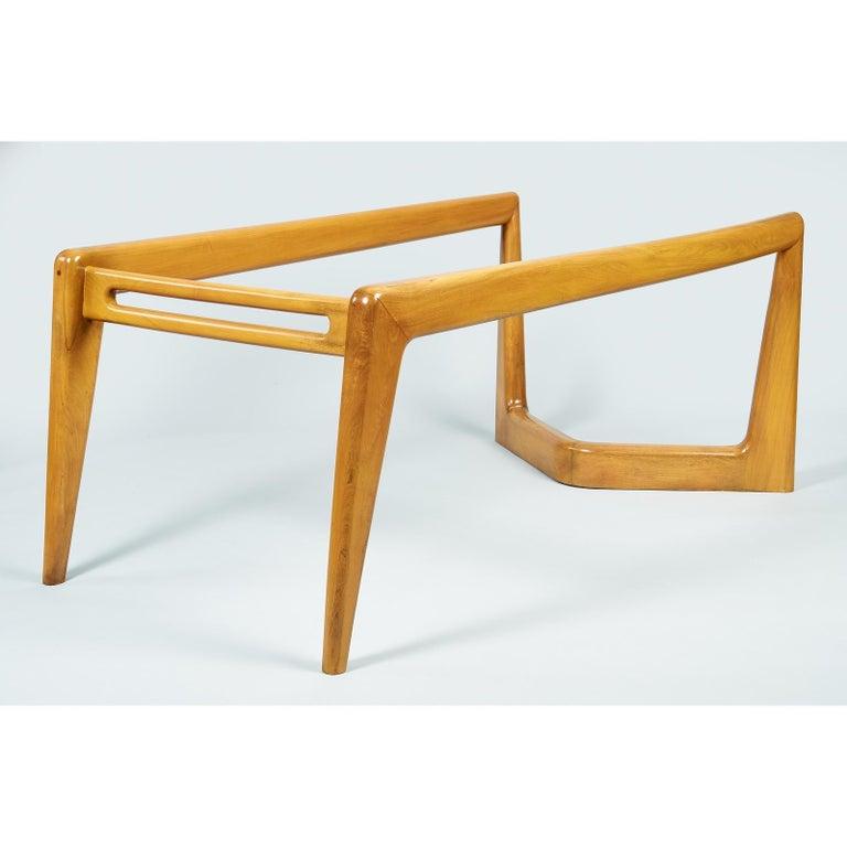 Pierluigi Giordani Monumental Biomorphic Dining Table, Walnut&Glass, Italy 1950s For Sale 3