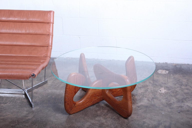 Biomorphic Oak Table in the Style of Noguchi In Good Condition For Sale In Dallas, TX