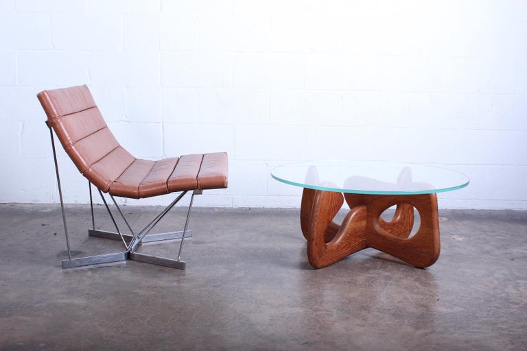 Mid-20th Century Biomorphic Oak Table in the Style of Noguchi For Sale