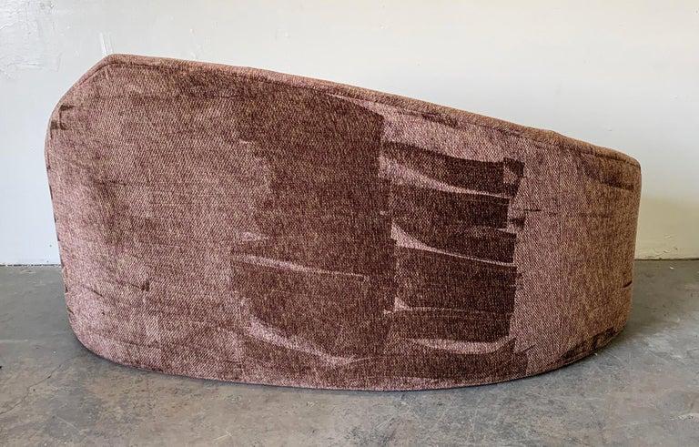 Late 20th Century Vladimir Kagan Style Biomorphic Postmodern Sofa For Sale