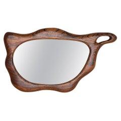 Biomorphic Wood Mirror