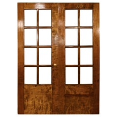 Birch 3/4 View Eight Lite Double Door Sets with Clear Glass