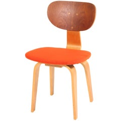 Birch and Teak Mid-Century Modern Sb02 Chair by Cees Braakman for Pastoe, 1952