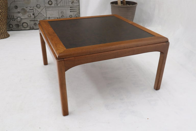 Lacquered Birch and Walnut Mid-Century Modern Full Size Bed Frame For Sale