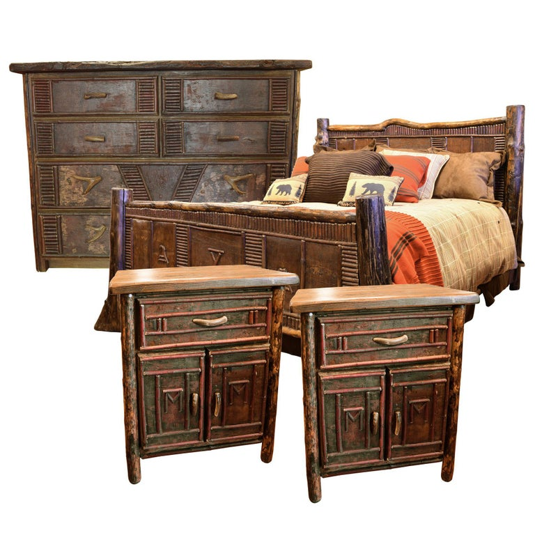 Birch Bark California King-Size Bedroom Set For Sale At