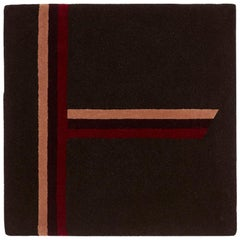 """Birch"" Brown, Red, Burgundy Tree Alphabet Carpet or Tapestry by Rhyme Studio"