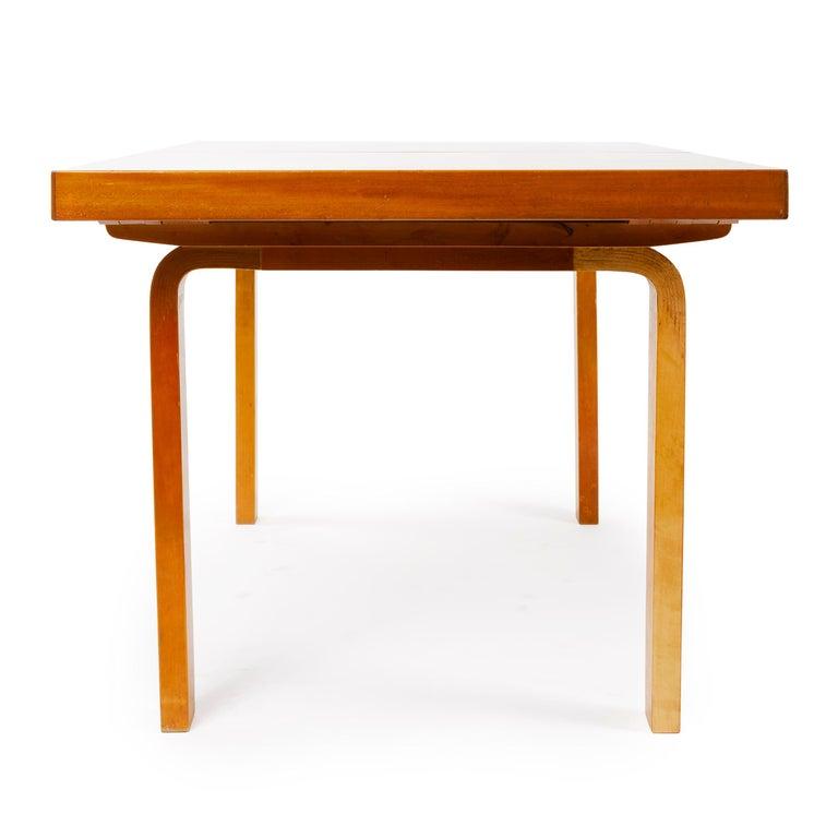Scandinavian Modern 1940s Finnish Birch Extention Table by Alvar Aalto for Artek For Sale
