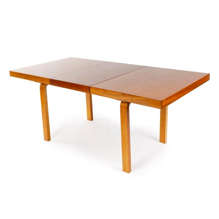 Mid-20th Century 1940s Finnish Birch Extention Table by Alvar Aalto for Artek For Sale
