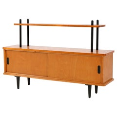 Birch Mid-Century Modern Bookcase or Credenza in the Style of Lutjens, 1950s