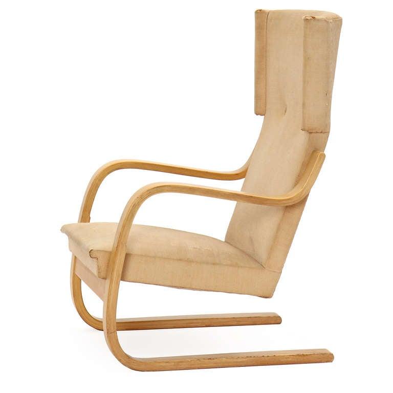 Finnish Birch Wingback Lounge Chair by Alvar Aalto for Artek For Sale