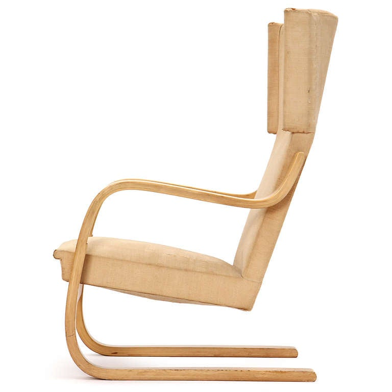 Laminated Birch Wingback Lounge Chair by Alvar Aalto for Artek For Sale