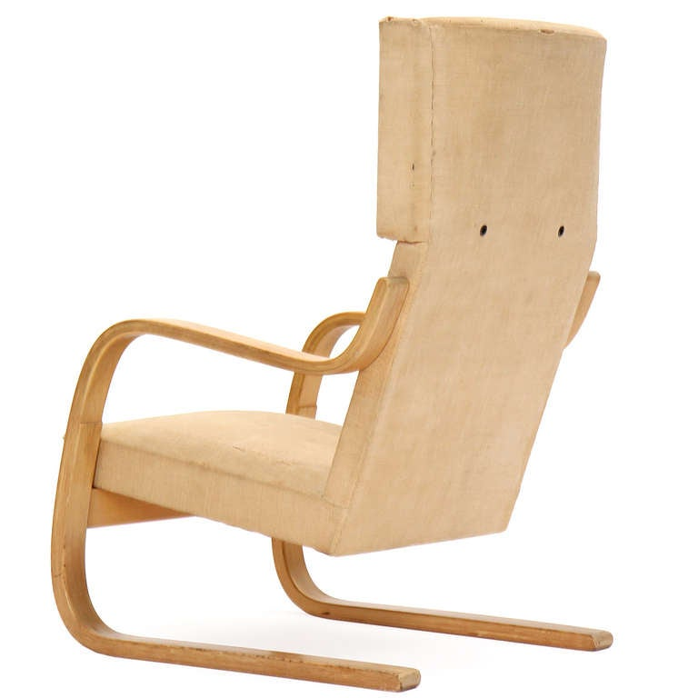 Birch Wingback Lounge Chair by Alvar Aalto for Artek In Good Condition For Sale In Sagaponack, NY