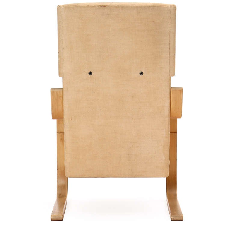 Mid-20th Century Birch Wingback Lounge Chair by Alvar Aalto for Artek For Sale
