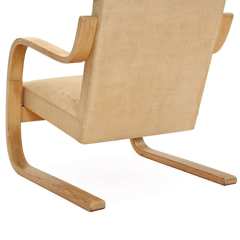 Birch Wingback Lounge Chair by Alvar Aalto for Artek For Sale 2