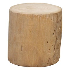 Birch Wood Tree Stump Base for Side Table or Stool