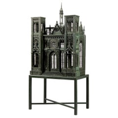 Bird Cage Mid-19th Century Voliere Cathedrale Notre Dame Neo-Gothic