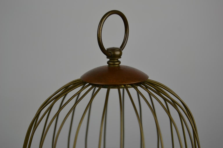 Bird Cage with Singing Bird Automaton, Europe, Mid-20th Century For Sale 2