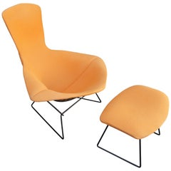 Bird Lounge Chair and Ottoman by Harry Bertoia for Knoll