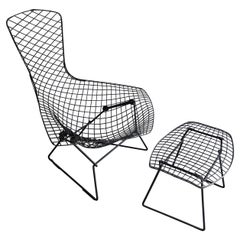 Bird Lounge Chair with Ottoman by Harry Bertoia for Knoll