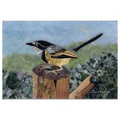Bird on a Trunk Mosaic Tableau by Scarpelli Mosaici
