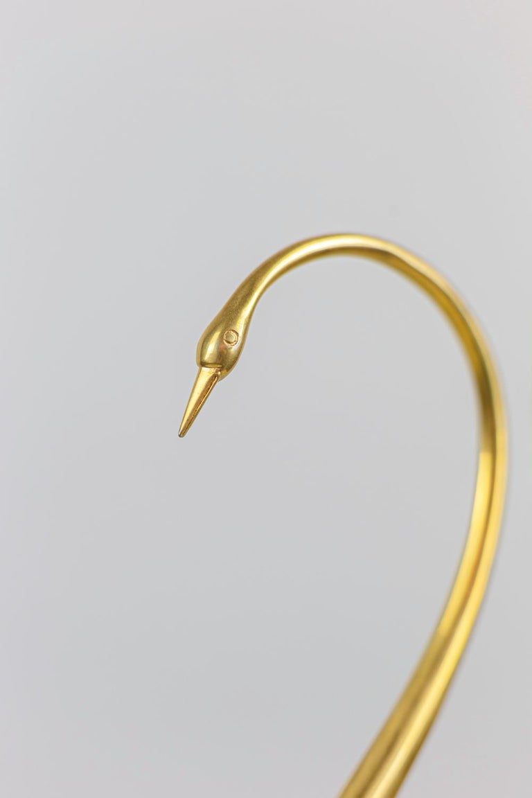 """""""Bird"""" Sculpture in Natural Shell and Gilt Brass, 1970s For Sale 1"""