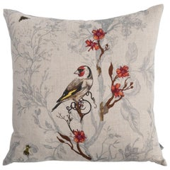 Birds & Bees Goldfinch Cushion by Timorous Beasties