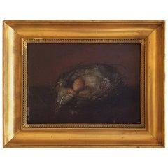Bird's Nest, Oil Painting, Circa 1830