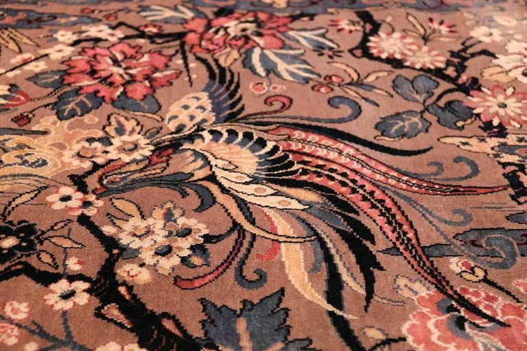 Birds Of Paradise Vintage English Wilton Rug For Sale At 1stdibs