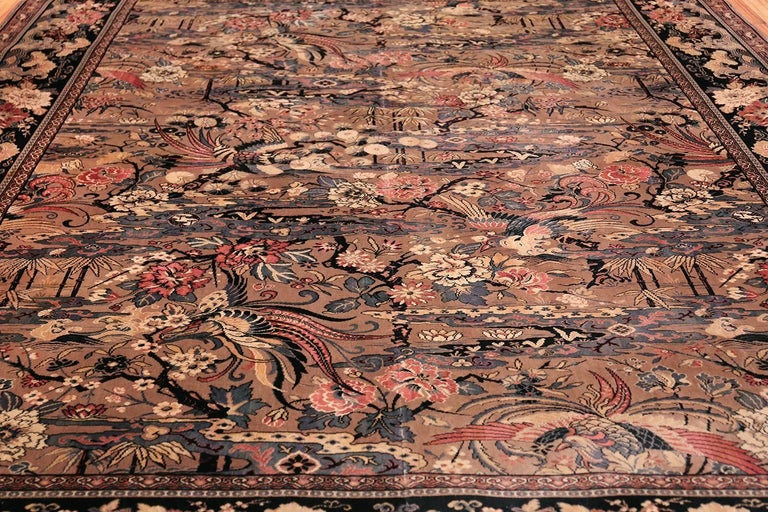 Other Birds Of Paradise Vintage English Wilton Rug For