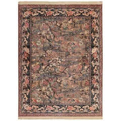 Birds of Paradise Vintage English Wilton Rug. Size: 9 ft x 11 ft 10 in